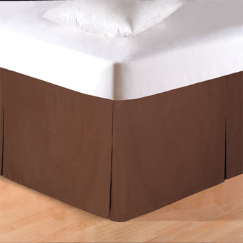 Brown Queen Bed Skirt