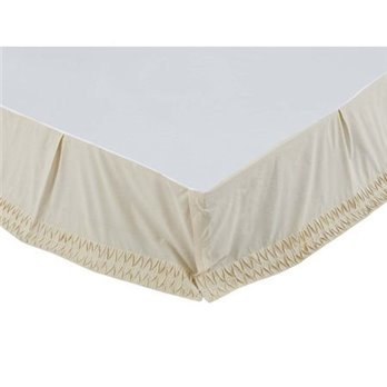 Adelia Creme Queen Size Bed Skirt