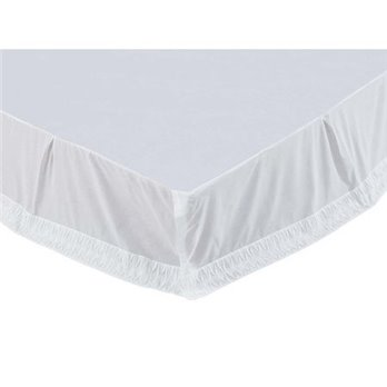 Adelia White Queen Size Bed Skirt