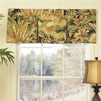 Bahamian Nights Button Pleat Valance