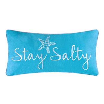 Blue Salty Embroidered Pillow