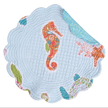 St. Kitts Round Quilted Placemat