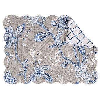 Annabelle Blue Rectangular Quilted Placemat