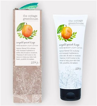 The Cottage Greenhouse Sungold Apricot & Sage Hand & Body Light Lotion