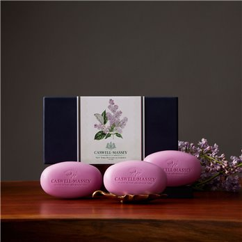 Caswell-Massey NYBG Lilac Box of Three Soaps