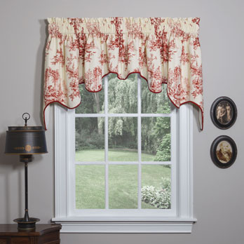 Bouvier Red Empress Swag Valance
