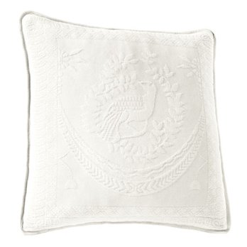 King Charles Matelasse White 20 inch Decorative Pillow