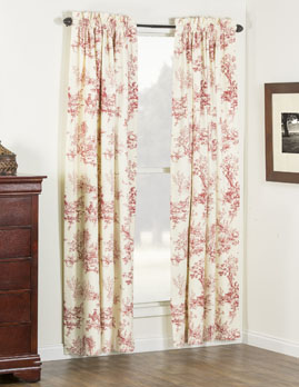 Bouvier Red Curtain Panel Pair