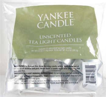 Yankee Candle Unscented Tea Light Candles