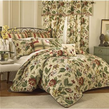 Laurel Springs Queen Waverly 4 piece Comforter Set