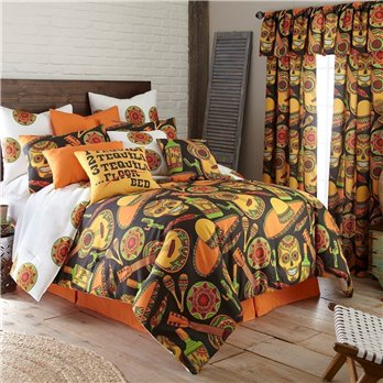 Mexican Fiesta Duvet Cover Set Reversible Twin