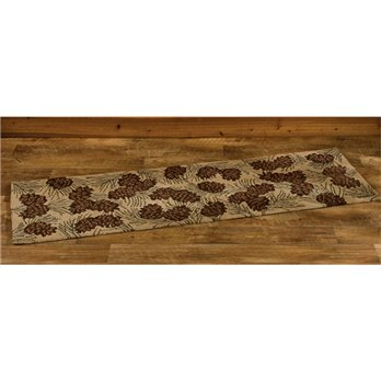 Walk in the Woods Hooked Rug Runner 24x72
