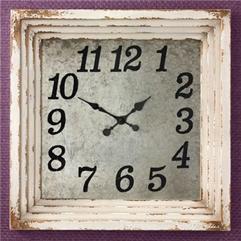 Wall Clock 20 Aged Cream