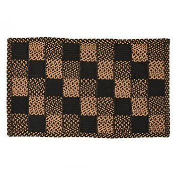 Square Block Braid Rug 27X45