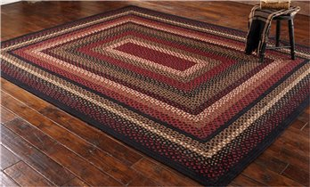 Folk Art Braided Rug 8X10