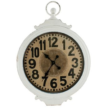 Antique Metal Clock Cream