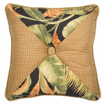 La Selva Black Square Button Pillow