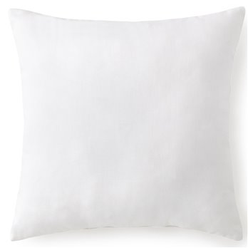 "African Safari Square Pillow 20""x20"" - Solid White"