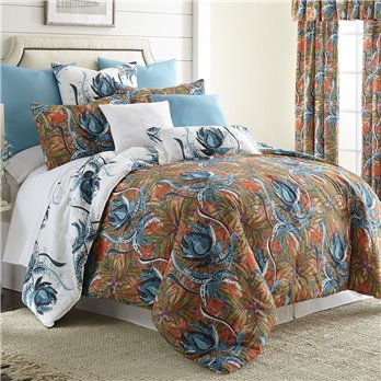 Tropical Bloom Comforter Set Reversible Twin