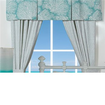 Tybee Island Button Pleat Valance