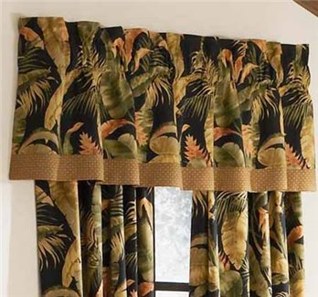 La Selva Black Tailored Valance