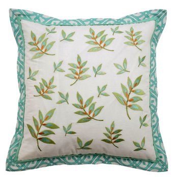Waverly Modern Poetic Square Embroidered Decorative Pillow