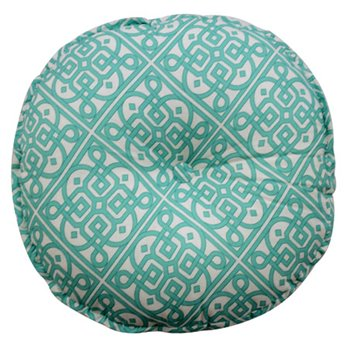 Waverly Modern Poetic Round Button-Tufted Decorative Pillow
