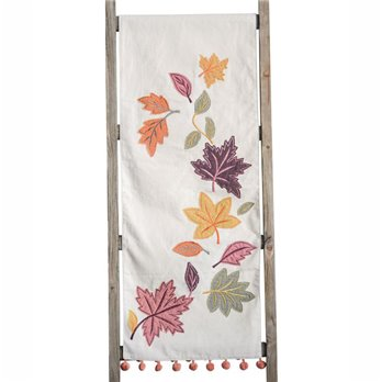 "Fallen Leaves Table Runner 72"" long"