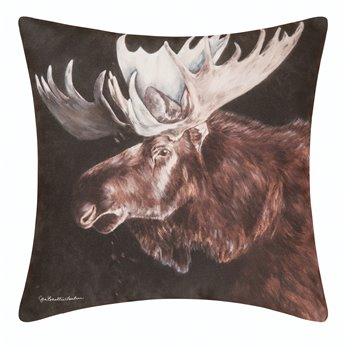 Caleb Moose Indoor/Outdoor Pillow