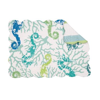 Aquarius Rectangular Quilted Placemat