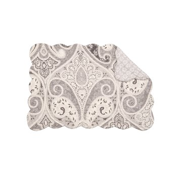 Nazima Gray Rectangular Quilted Placemat