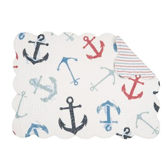 Anchors Away Rectangular Quilted Placemat