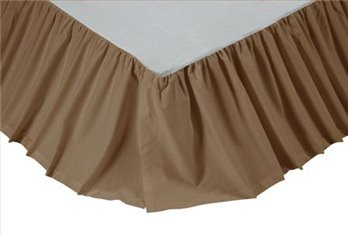 Solid Khaki Twin Bed Skirt