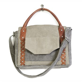 Mona B. Dolce Canvas Shoulder Bag