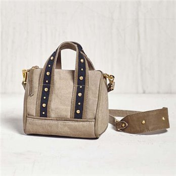 Mona B. Lucca Mini Canvas Handbag/Crossbody Bag