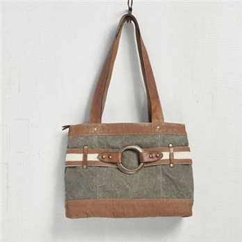 Mona B. Rowen Canvas Handbag