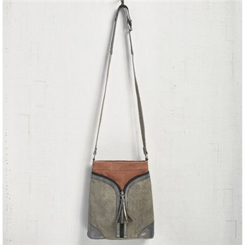 Mona B. Cross City Canvas Crossbody  - Smoke