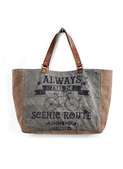 Mona B. Scenic Route Canvas Weekender Bag