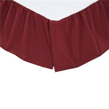 Solid Burgundy Twin Bed Skirt