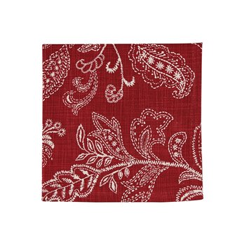 Stitches Print Napkin - Red
