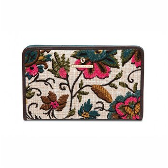 Spartina 449 Eliza Floral Embroidered Snap Wallet