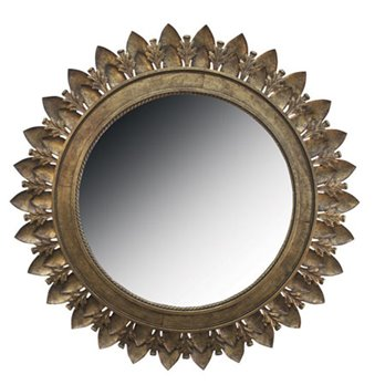 Metal Leaf Medallion Mirror by Split-P