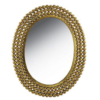 Oval Nailhead Mirror by Split-P