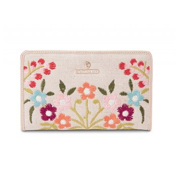 Spartina 449 Cordelia Blossom Embroidered Snap Wallet