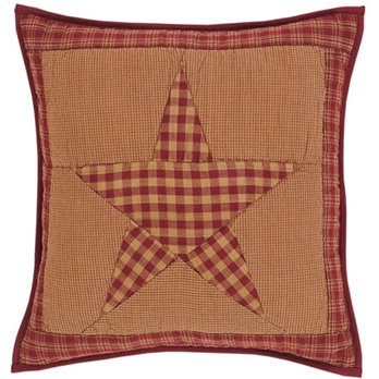 "Ninepatch Star 16"" Quilted Pillow"