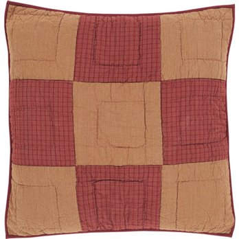 Ninepatch Star Quilted Euro Sham