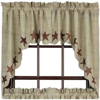 Abilene Star Swag Set of 2 36 x 36