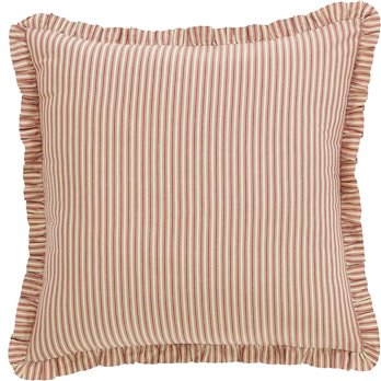 Kendra Stripe Red Euro Sham