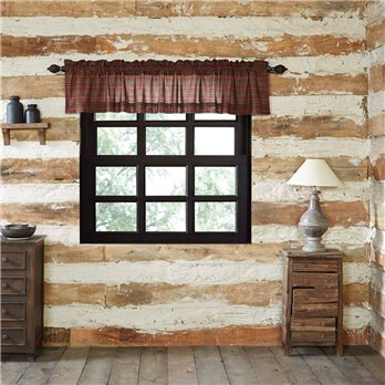 Tartan Red Plaid Valance (16L x 60W)