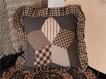 "Farmhouse Star 10"" Quilted Pillow"
